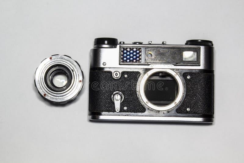 Vecchia macchina fotografica fotografie stock libere da diritti