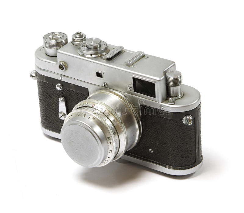 Vecchia macchina fotografica analog della foto. immagine stock libera da diritti