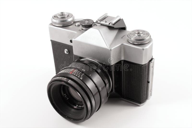 Vecchia macchina fotografica analog russa fotografia stock libera da diritti