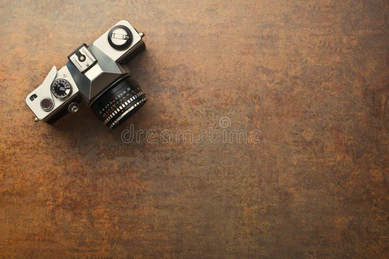 Vecchia macchina fotografica analogue fotografie stock libere da diritti