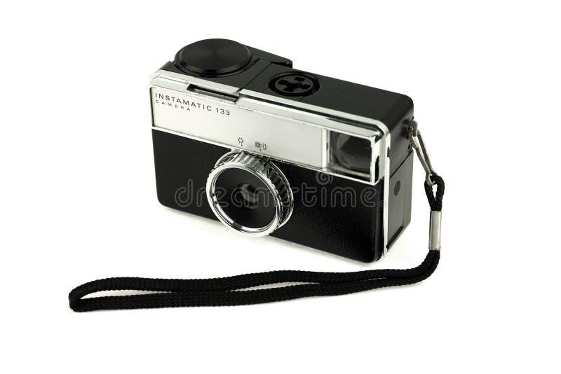 Vecchia macchina fotografica con la cinghia immagine stock