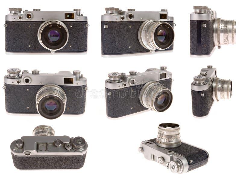Vecchia macchina fotografica della foto nella posizione otto immagini stock
