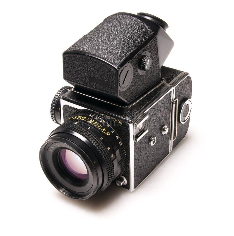 Vecchia macchina fotografica di SLR immagini stock