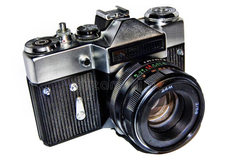 Vecchia macchina fotografica russa della foto fotografia stock libera da diritti