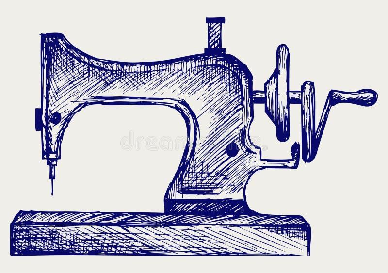 Vecchia macchina per cucire illustrazione vettoriale