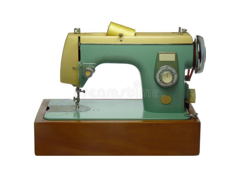 Vecchia macchina per cucire elettrica fotografia stock