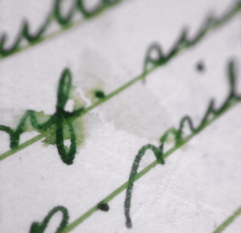 Vecchia macro della lettera fotografia stock