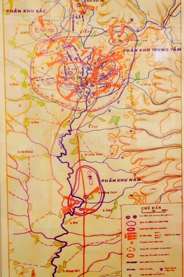 Vecchia mappa del soldato del Vietnam fotografia stock libera da diritti