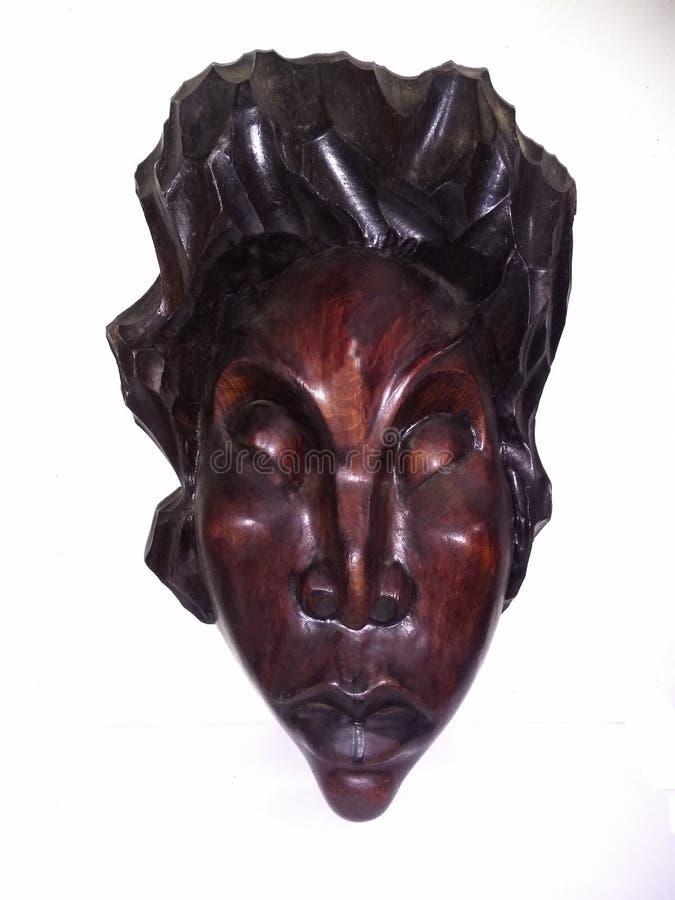 Vecchia maschera cinese fatta in america immagine stock