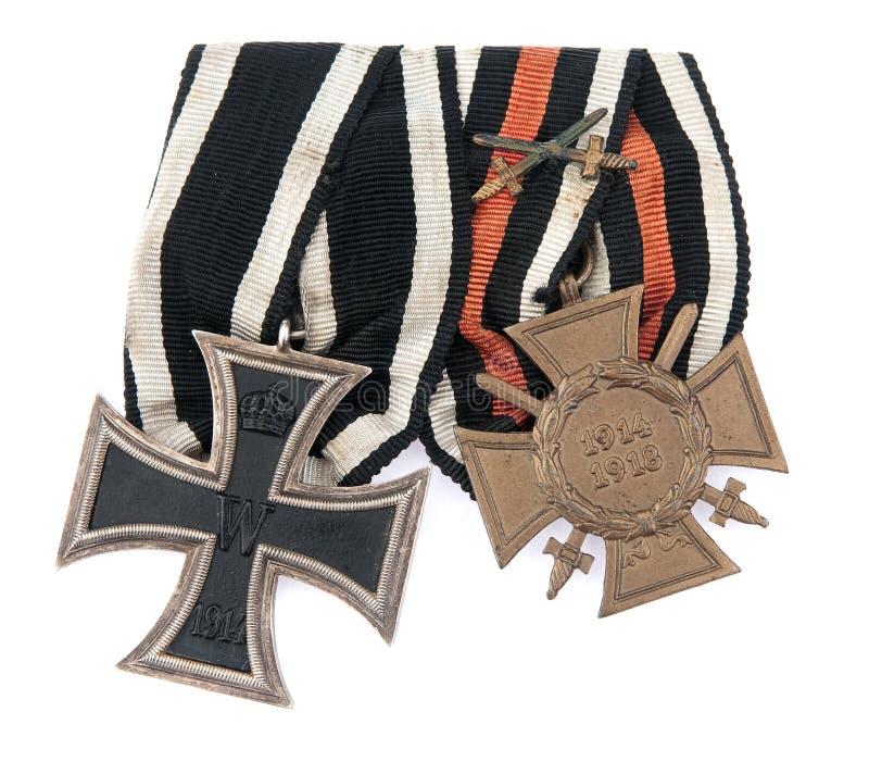 Vecchia medaglia tedesca immagine stock