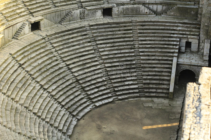 Vecchia miniatura storica dell'arena immagine stock