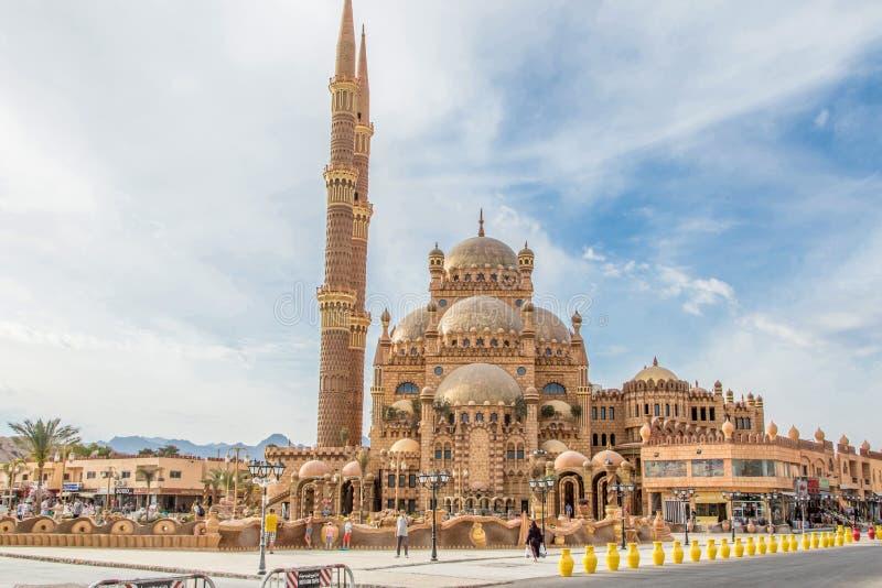 Vecchia moschea del mercato - Sharm el-Sheikh - Al Sahaba Mosque immagine stock
