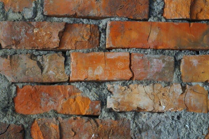Vecchia muratura rossa fotografie stock libere da diritti