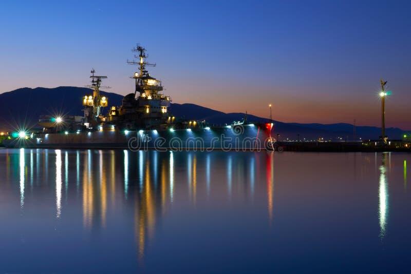 Vecchia nave da guerra immagine stock