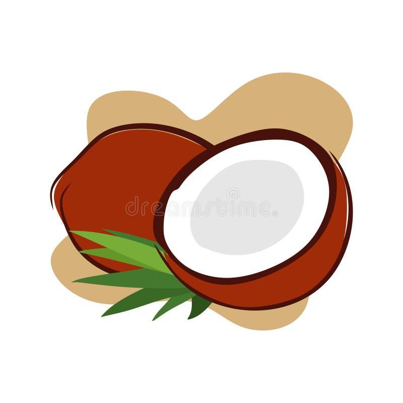 Vecchia noce di cocco con molti usi royalty illustrazione gratis