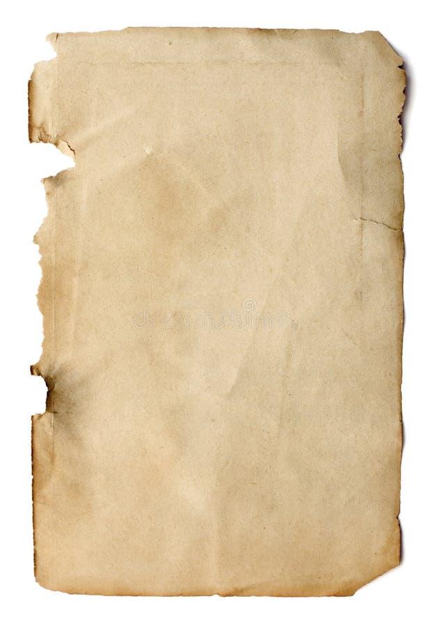 Vecchia pagina da un libro immagini stock