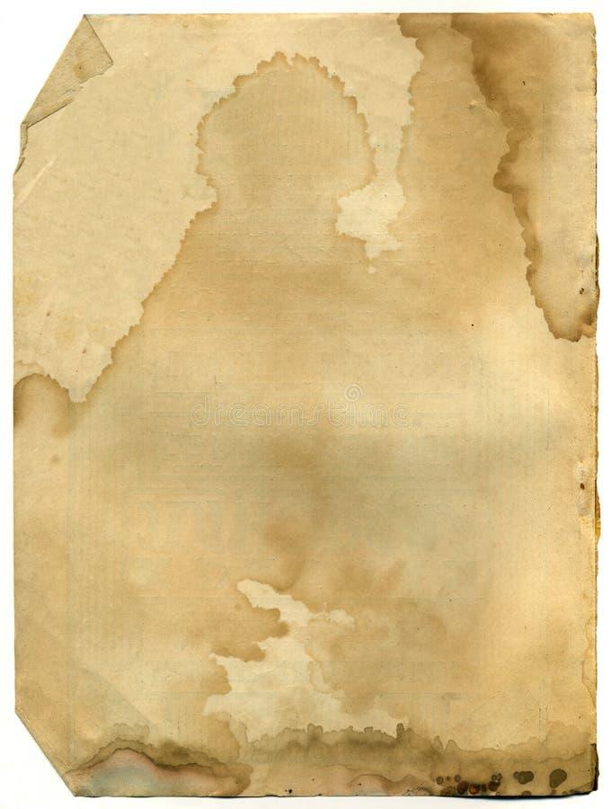 Vecchia pagina del libro antico immagine stock
