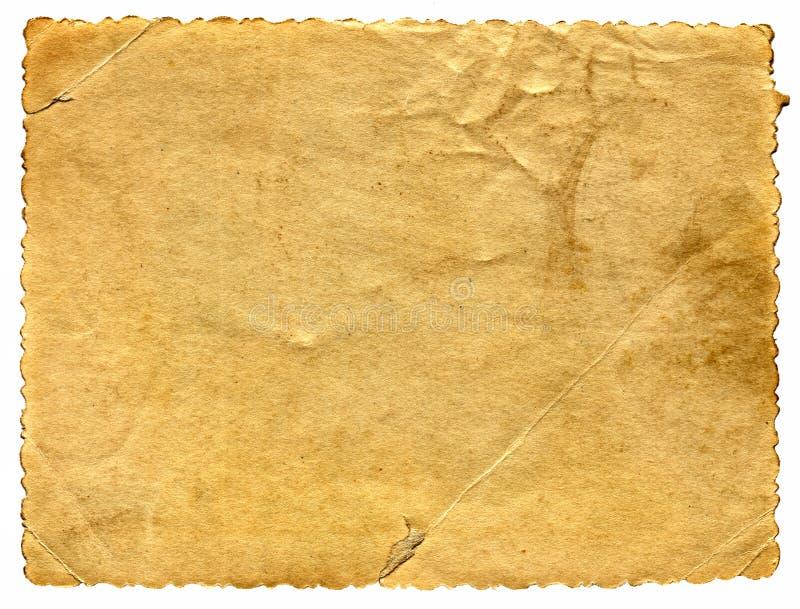 Vecchia pagina di carta immagini stock libere da diritti