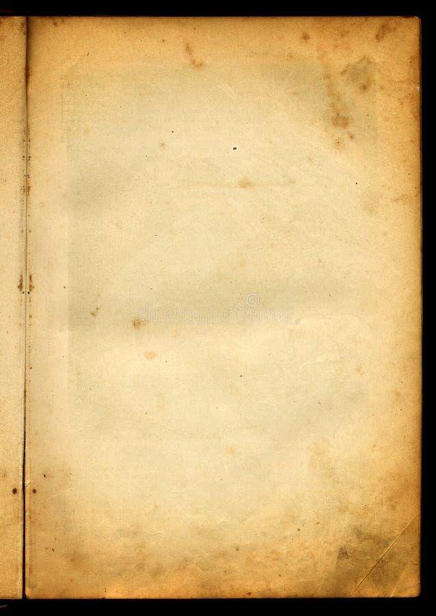 Vecchia pagina di carta immagini stock