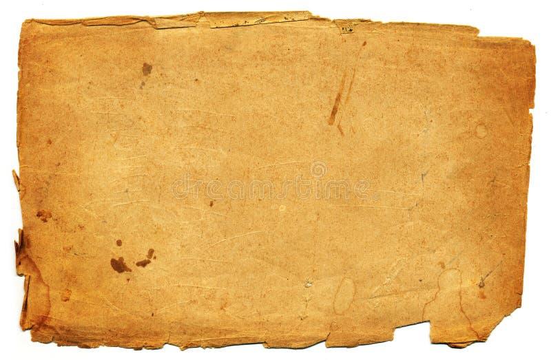 Vecchia pagina di carta immagine stock