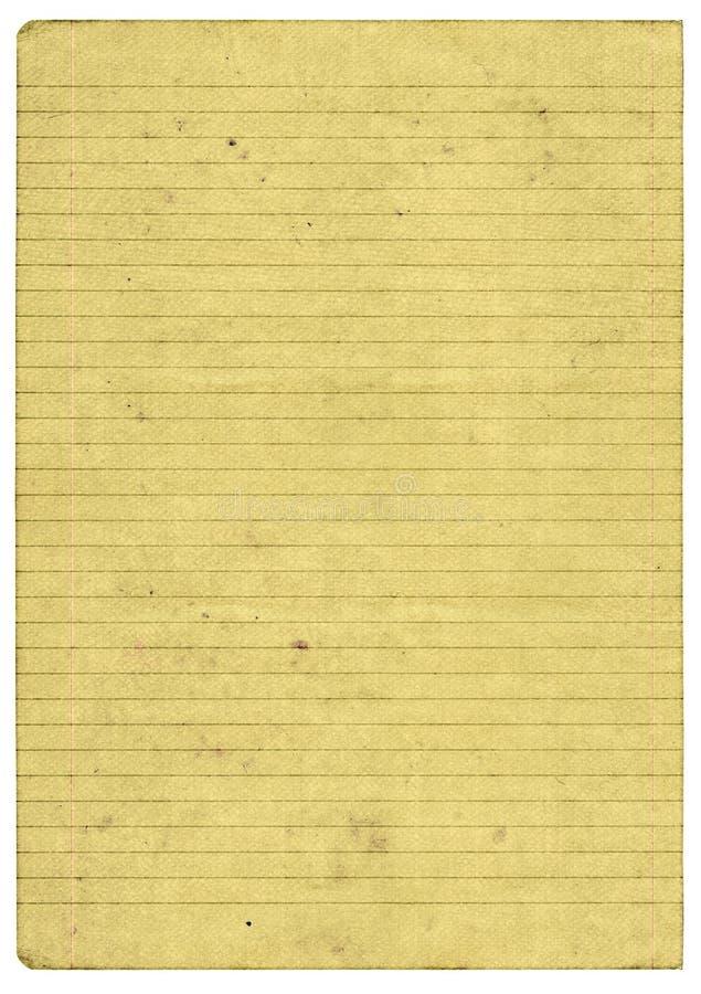 Vecchia pagina di carta ined fotografia stock libera da diritti