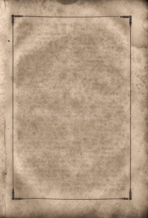 Vecchia pagina misera in bianco. fotografie stock