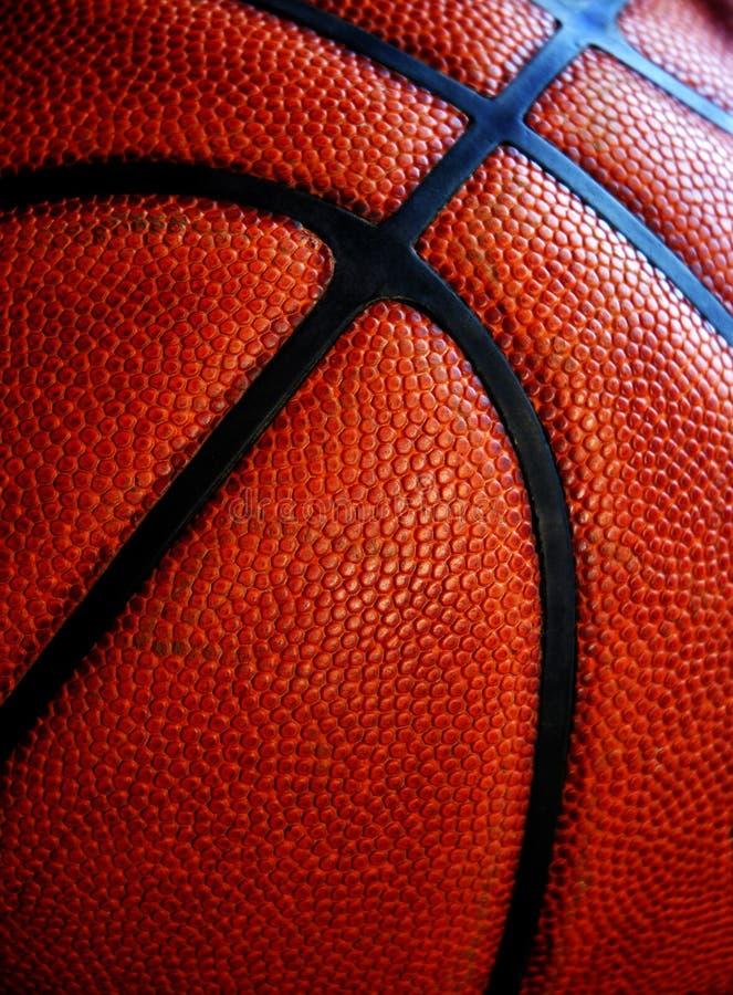Vecchia pallacanestro di cuoio immagini stock