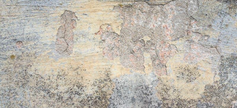 Vecchia parete con buccia Grey Stucco Texture Superficie sporca consumata della parete della retro annata Insegna astratta ruvida fotografia stock libera da diritti