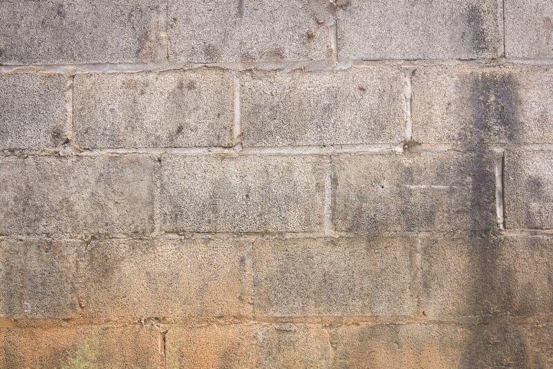 Vecchia parete del blocco in calcestruzzo immagine stock libera da diritti