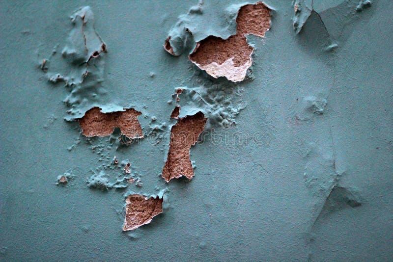 Vecchia parete del blu della sbucciatura fotografia stock libera da diritti