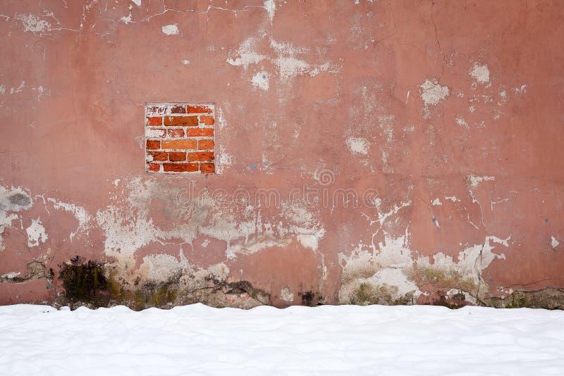 Vecchia parete del cemento immagini stock