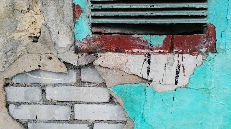 Vecchia parete del colorfull fotografia stock