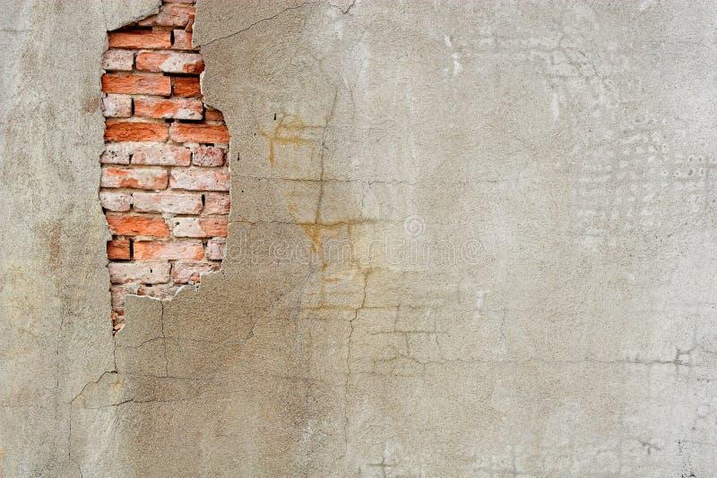Vecchia parete dello stucco immagine stock