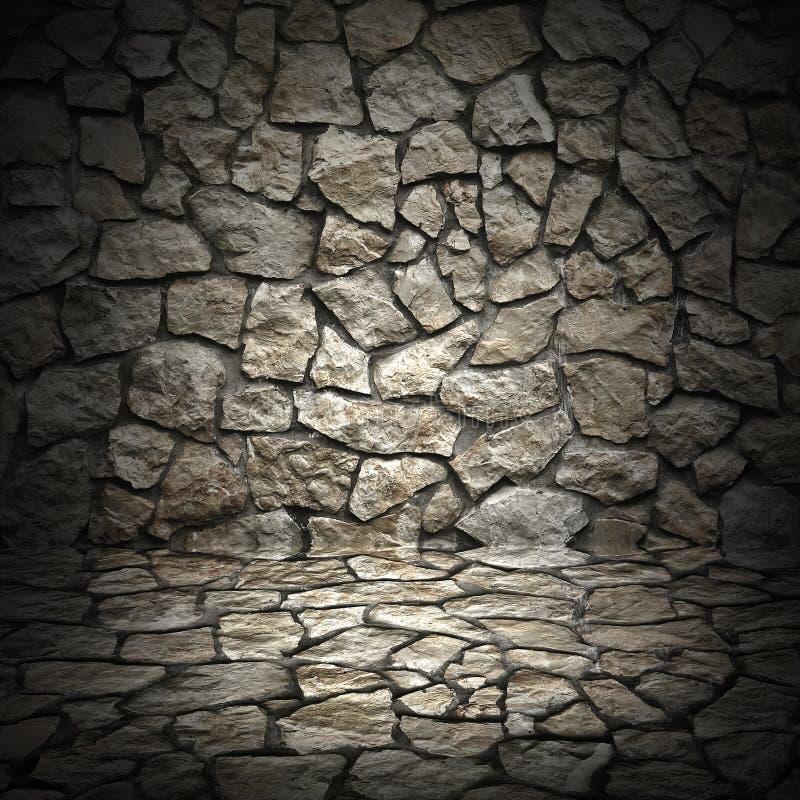 Vecchia parete di lerciume delle pietre ruvide come fondo fotografie stock libere da diritti