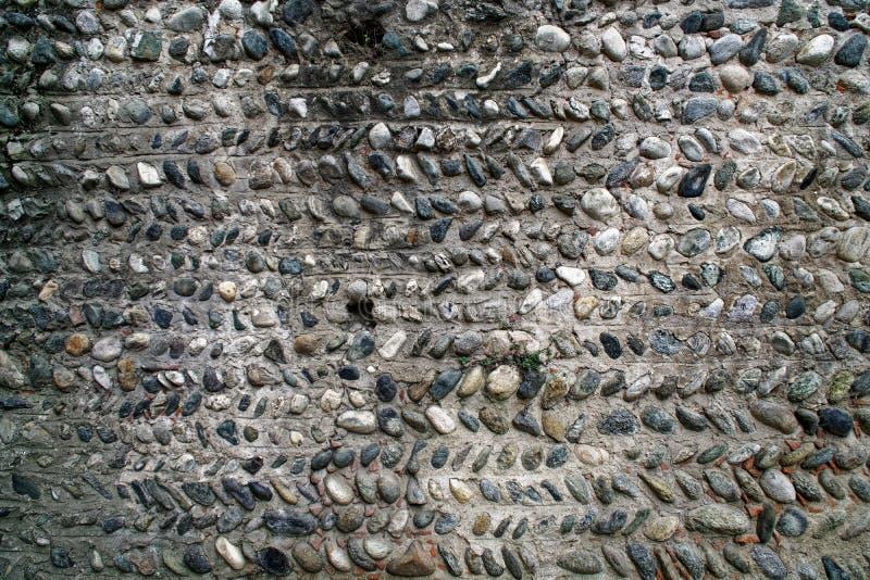 Vecchia parete di pietra, struttura di tecnica di lerciume, superficie ruvida della roccia immagine stock libera da diritti