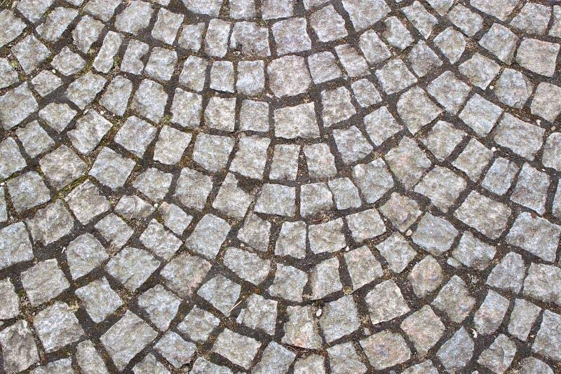 Vecchia pavimentazione del cobblestone fotografia stock libera da diritti