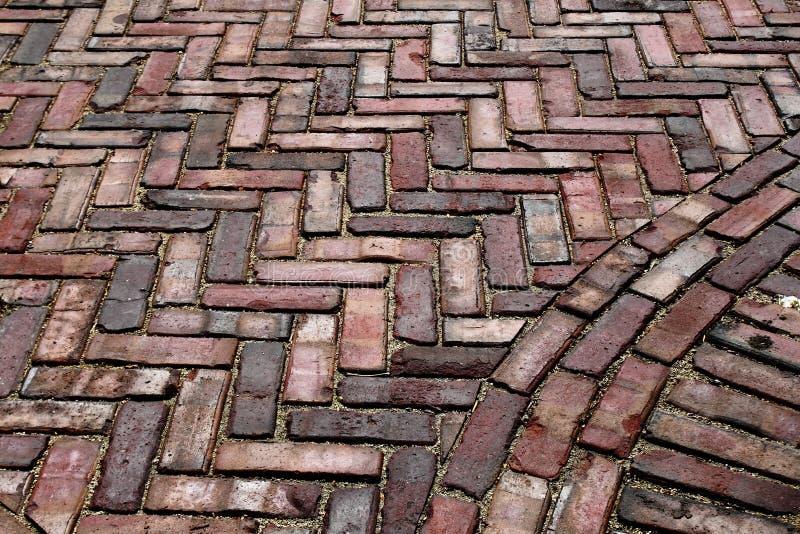 Vecchia pavimentazione del mattone immagine stock libera da diritti