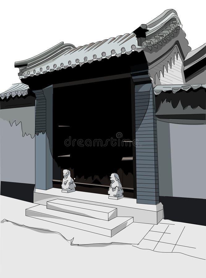Vecchia Pechino illustrazione vettoriale