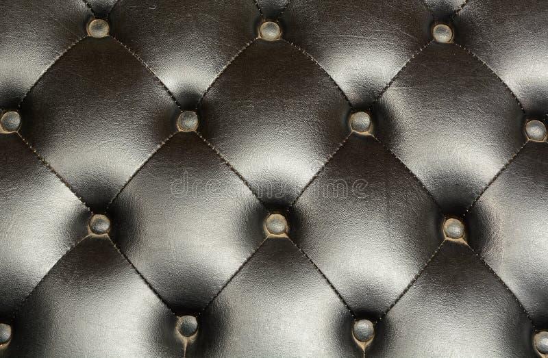 Vecchia pelle di cuoio di lusso nera immagini stock