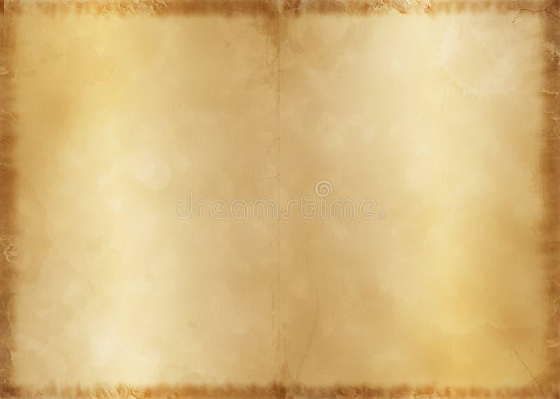 Vecchia pergamena (DPS A4) fotografie stock