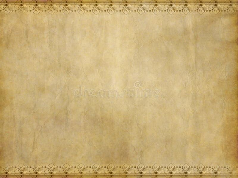 Vecchia pergamena floreale royalty illustrazione gratis