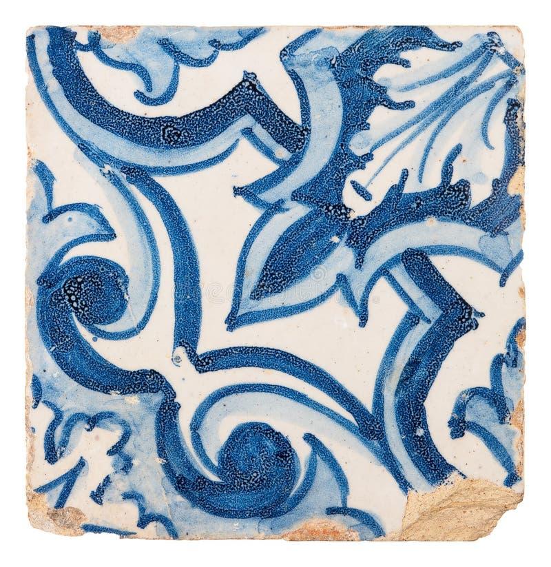 Vecchia piastrella di ceramica fotografia stock