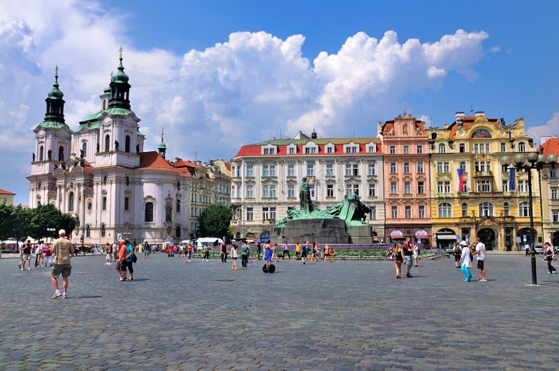 Vecchia piazza, Praga immagini stock