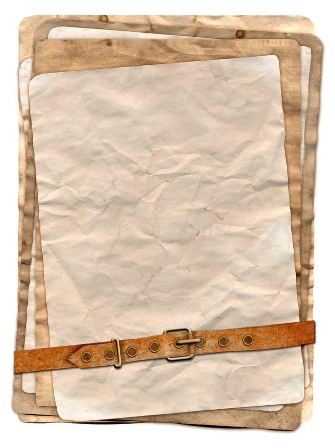 Vecchia pila di carta royalty illustrazione gratis
