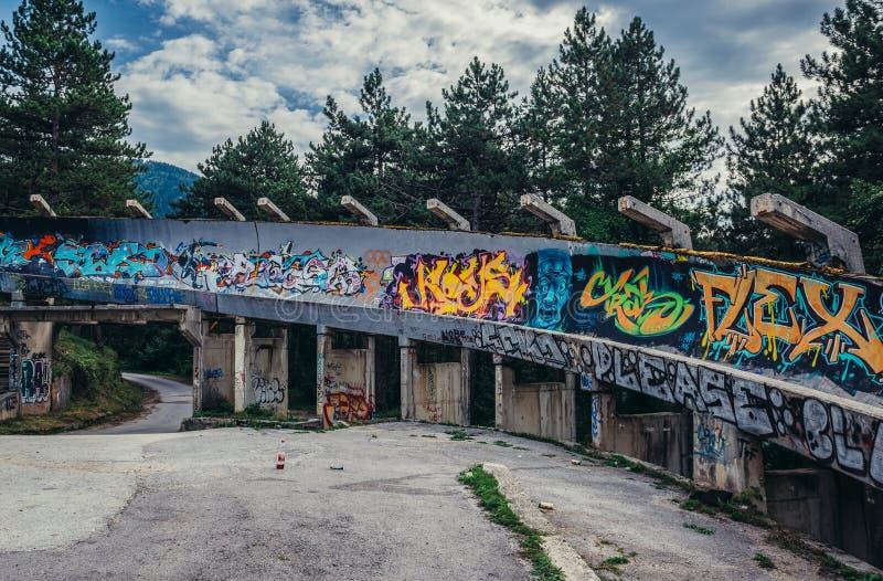 Vecchia pista di bob a Sarajevo immagine stock libera da diritti