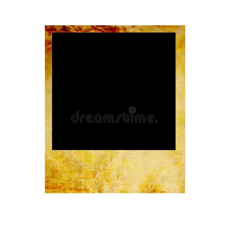 Vecchia polaroid isolata illustrazione di stock