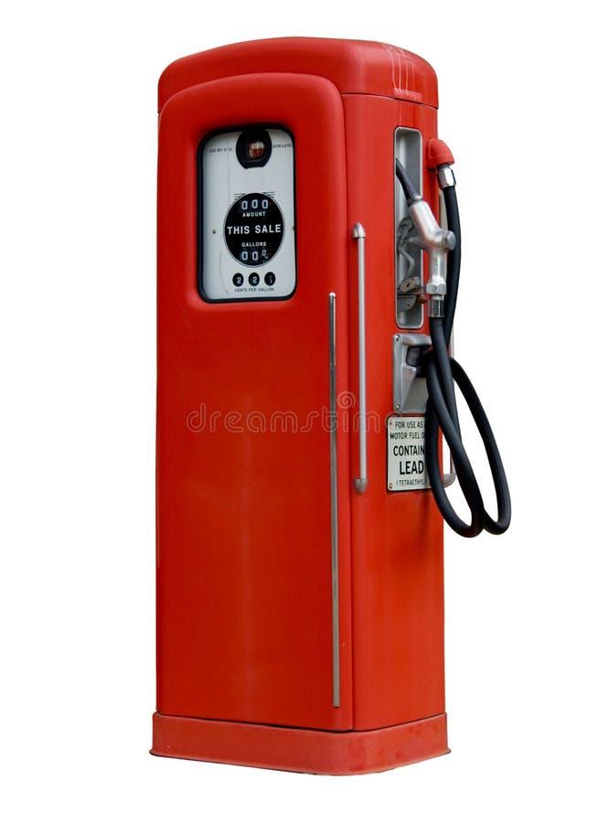 Vecchia pompa di benzina antica isolata fotografie stock