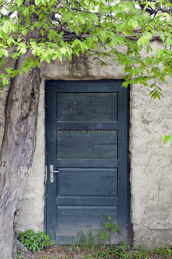 Vecchia porta di mistero fotografia stock libera da diritti