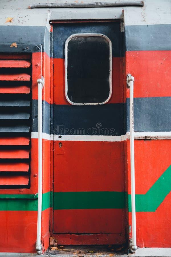 Vecchia porta di punk del vapore del trasporto del treno fotografia stock libera da diritti