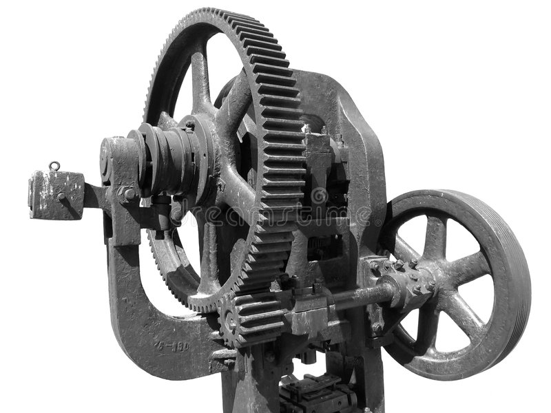 Vecchia pressa di pezzo fucinato fotografie stock libere da diritti